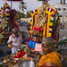 Group Of Devotees Bringing Offerings For The Deities During Masi Magam Festival Pondicherry India