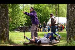 hang out (rainbowcave) Tags: wood forest fun joy wiese sunny swing fest wald freude schaukel odenwald entspannung spas schaukeln schwingen siedelsbrunn buddhafest buddhasweg