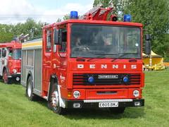 E805 BMJ (markkirk85) Tags: earls barton festival transport 2015 fire engine appliance dennis ds153 angloco hertfordshire service ds carmichael e805 bmj e805bmj 153 ex