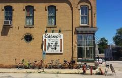 Bike outing (Cragin Spring) Tags: building sign illinois midwest bikes richmond il bicycles route12 paisanos mchenrycounty richmondil richmondillinois