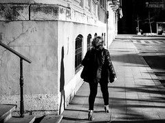 Prisas (Dragos Voicu) Tags: madrid city white black art blanco speed canon de person nikon women fuji shadows personal negro ciudad worry sombras henares unica alcala proyecto 6d prisa dragos d610 voicu umbre danut cugir xt1 d7100