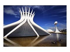 The Future (W Gaspar) Tags: travel brazil sky church water arquitetura brasil architecture modern reflections nikon geometry capital sigma wideangle igreja future 1020mm brasilia distritofederal planopiloto d5100 wgaspar