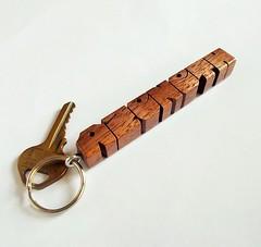 Walnut Wood Name Keychain (DustyNewt Scott) Tags: wood wooden keychain handmade name walnut woodworking fob keyfob azeneth dustynewt