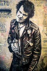 Shepard Fairey (dprezat) Tags: street urban streetart paris art collage painting stencil nikon punk tag graf sid obey spray peinture aerosol shepardfairey sexpistols vicious bombe d800 pochoir sidvicious nofuture nikond800