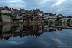 Reflections in the Creuse (Beardy Git) Tags: city houses france building water reflections river indre wideangle creuse argenton argentonsurcreuse canoneos7d efs1585mmf3556isusm