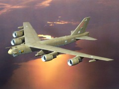 "1:200 Boeing B-52K 'Stratofortress B.I', ""ZA447/(AJ)G"" of  Royal Air Force 617 Squadron; Waddington, England, 1999, during 'Operation Allied Force' (Whif/Dragon kit conversion)"