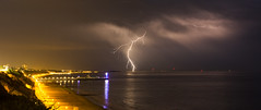 Lightning over the Solent (Nick L) Tags: sky storm beach clouds canon eos pier sand stormy isleofwight dorset solent 5d canon5d lightning lightshow bournemouth thunder tvtower 2470l wight bournemouthpier boscombepier 2470 forklightning canon2470l poolebay eos5d3 eos5dmarkiii 5d3 5dmarkiii eos5dmk3 canon5d3 eos5dmark3 eos5dmkiii canon2470li latierraunparaiso 2470li