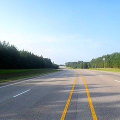 The Road Ahead. Day 89. Mobile Hwy in McKenzie, AL. About 6 days out from Mobile, really starting to feel like I'm making some distance. As Lucretius said: 'The drops of rain make a hole in the stone not by violence but by oft falling.' #TheWorldWalk #tra