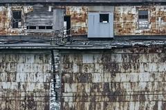 Top Floor - Dilapidated Grain Storage Building - Superior WI (JohnColeUSA) Tags: abandoned rust outdoor fireescape dilapidatedbuilding superiorwi corregatedsteel rustedbuilding grainstoragebuilding