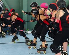 oak_vs_resist_L3500431 1 (nocklebeast) Tags: ca usa rollerderby rollergirls richmond skates bayareaderbygirls badg oaklandoutlaws richmondwreckingbelles va0001991072 effectivedateofregistrationaugust152015 va1991072
