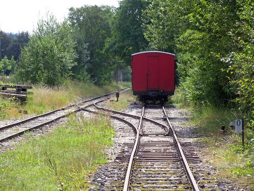 Im Schmalspurteil des Bahnhofes Amstetten