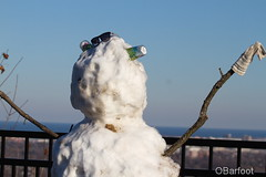 snowman with no face (obarfoot) Tags: snowman snow outdoors winter crazy lakeview escarpment