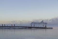 Smoky cruze (Patrik Fagerström) Tags: boat ship silja siljaline serenade sea seasmoke cold winter ice helsinki finland merisavu