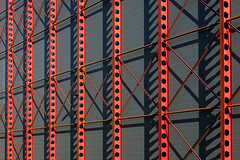 Red construction (Jan van der Wolf) Tags: map160111v building gebouw composition construction red rood shadow shadowplay lines lijnen lijnenspel interplayoflines playoflines factory fabriek