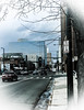 Windows on Lincoln (CAJC: in the Rockies) Tags: windows windowwednesday hww denver denverco lincolnstdenverco waitingatthebusstop lgg4 lightroom lightroompresets bleachedbypass lightroomtools radialfilter smartphone cameraphone goldentriangledenverco