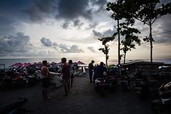 Echo Beach Scooters, Bali Island (pictcorrect) Tags: bali island echo beach canggu surfers surfing sunset wide angle