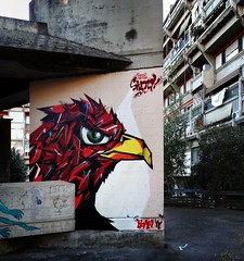 Eagle in Rome (Crazy Mister Sketch) Tags: crazy mister sketch graffiti spraycans spraypaint stylewriting streetart wall walls freestyle eagle mural rome rom roma colors cans character charakter spraycan spraycanart