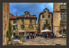 Street Life in Split (Kevin, from Manchester) Tags: architecture building canon1855mm croatia cruiseship dalmatiancoast hdr harbour historical kevinwalker photoborder sea sky split