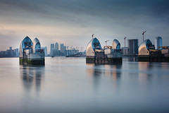 Thames Barrier, Woolwich (mike-mojopin) Tags: london thames woolwich barrier flood colour