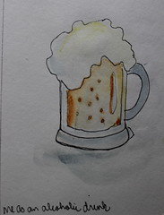 8- Me as an Alcoholic Drink (cheesemoopsie) Tags: croquis sketch doodle watercolor aquarelle ink