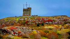 Iconic Cabot Tower on Signal Hill, St. John's, Nfld (peggyhr) Tags: peggyhr autumn signalhill cabottower dsc04443ab stjohns newfoundland canada musictomyeyes rainbowofnaturelevel1red niceasitgets~level1 musictomyeyes~l1 rainbowofnaturelevel2orange niceasitgets~level2 thegalaxy super~sixbronze☆stage1☆