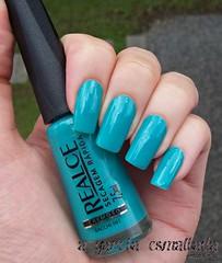 Esmalte Bacchi 061, da Realce. (A Garota Esmaltada) Tags: agarotaesmaltada unhas esmaltes nails nailpolish manicure azul blue turquesa turquoise bacchi061 realce