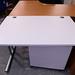 White straight desk