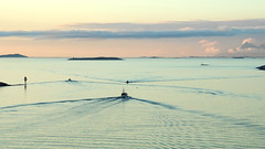 boats and islands (berny-s) Tags: sea bodø boats pastel evening islands norway water waves