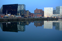 Wet reflections in Liverpool (Tony Worrall) Tags: england northern uk update place location north visit area county attraction open stream tour country welovethenorth northwest unitedkingdom liverpool merseyside mersey scouse reflections reflection wetreflection architecture building wet water docks cool cold dusk evening scenic scenery scene serene beauty tall nice liverpoolarchitecture