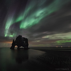 The squareness of Light (Friðþjófur M.) Tags: canon5dmarkii samyang14mm hvítserkur hvitserkur northernlights norðurljós nordlicht norðvesturland hunabay húnaflói stars sky clouds lights friðþjófurm seascape strangerock guano