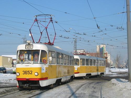 Moscow tram Tatra T3SU 3652