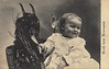 QG001073 (head.chicago) Tags: 1 baby card children christmas customsandcelebrations facialexpression greetingcard holding holiday illustration krampus latinalphabet lithographs locatedinrykoffcollection offsetlithographs people photolithographs planographicprints postcard postcardofchildwithkrampus prints smiling text toddler tongue transferprints visualarts whites