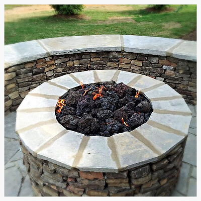 Custom Gas Fire Pit, Ooltewah, Tn
