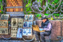 Local Street Artist (Kev Walker ¦ 8 Million Views..Thank You) Tags: stpetersburg russia hdr 2015 kevinwalker