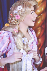 Rapunzel (dolewhip) Tags: disneyland disney rapunzel fantasyland tangled royaltheatre fantasyfaire flynnrider