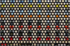 Rennes - La ronde des couleurs (Hervé Marchand) Tags: colors architecture circle gare couleurs parking bretagne trainstation repetition rennes immeuble