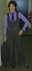 Purple Shirt (Mysuitandtie) Tags: woman sexy men beauty wearing up smart smiling shirt women uniform suits blouse business suit shirts u uniforms blazer dressed stylish dapper businessportrait businesspeople strict shirtandtie businesswomen buttoned buttondownshirt selfies businesswear womaninsuit womeninsuits womeninshirtandtie womaninshirtandtie
