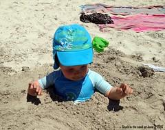 Stuck in the sand. (Papa Razzi1) Tags: holiday beach sand break grandson benjamin mallorca 2015 5209 154365