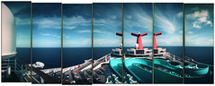 water slide - carnival triumph (That was my foot.) Tags: camera cruise carnival panorama mexico toy pix gulf lumiere triumph 100 xprocessed ansco