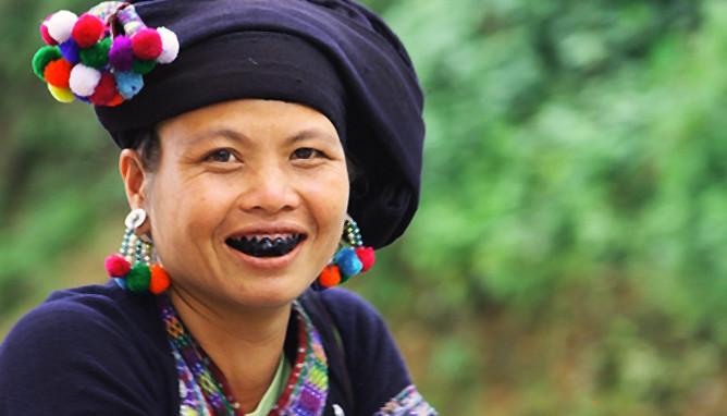 Image result for răng đen dân tộc