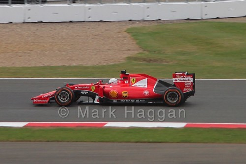 Sebastian Vettel's Ferrari in the 2015 British Grand Prix
