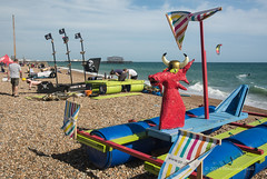 Rafts - Paddle (02) (Malcolm Bull) Tags: pier brighton paddle round around raft include 20150705paddle0002edited1web