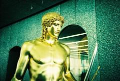 Milan (cranjam) Tags: italy milan film statue museum greek gold lomo lca xpro lomography italia kodak milano museo tungsten prada statua greca ektachrome64t fondazioneprada pradafoundation serialclassic