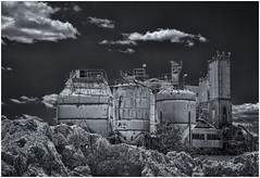 The Stone Eater (sorrellbruce) Tags: blackandwhite bw abstract texture industrial fuji stones cement shapes forms springfieldva lr6 photoninja colorefexpro cementyard simplysuperb silverefexpro fujixt1 fujinon56mm cementmanufacturing