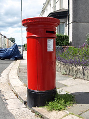 Pillar box (chrisinplymouth) Tags: uk red england mailbox mail plymouth devon postbox royalmail img vr devonport pillarbox plymgrp cw69x