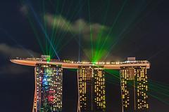 Light Show @ Marina Bay Sands (funtor) Tags: singapore night light show bay city color laser asia marina sands travel harbour