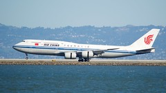 Air China Boeing 747 -8 B-2482 landing roll, SFO runway 28R DSC_0550 (wbaiv) Tags: outdoor airplane airliner jet jetliner commercial passenger aircraft motorized vehicle oudoor transportation san francisco bay area international airport takeoffs landings from publc access shorelines boeing air china 7478 747 8 landing roll sfo runway 28r jumbo jumbojet boeing747 plane b5903 747300 white