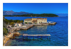 Beautiful Corfu (Kevin, from Manchester) Tags: architecture beautiful building canon1100d canon1855mm clouds corfu cruiseship greece hdr harbour historical island kevinwalker landscape oldtown photoborder sea shops thenewfort theoldfort