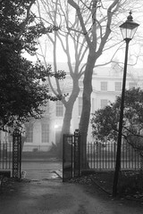 entrance to Falkner Square (Towner Images) Tags: liverpool merseyside towner garden falknersquare georgian mono monochrome bw classical architecture