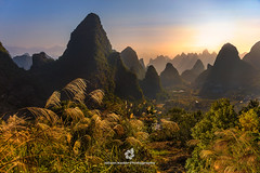 Morning Lights at Guangxi Hills, China (fesign) Tags: asia beautyinnature chinaeastasia colourimage dusk eastasia elevatedview guangxizhuangautonomousregionchina guilin hill horizontal landfeature layers locallandmark morning mountain mountainrange nature naturereserve nopeople outdoors photography plant rollinglandscape ruralscene scenics sky sunlight sunrise sunrisedawn touristresort tranquilscene travel traveldestinations vegetation xianggongshan yangshuo